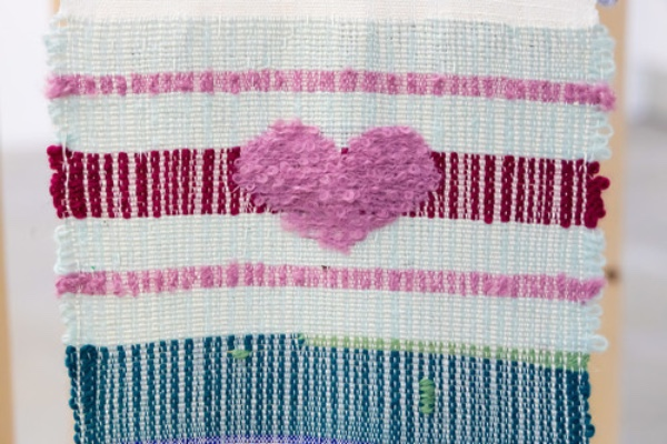 Heart embroidery by Sara King