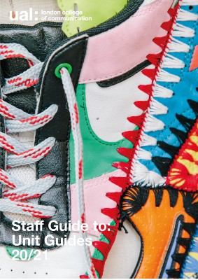 Cover image  of staff guide to Unit Guides